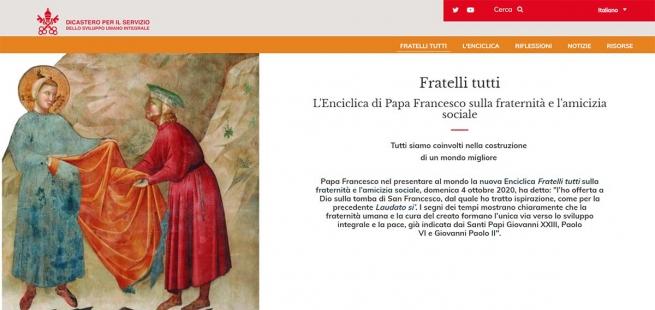 Vatican – « Fratelli tutti : » le nouveau site Internet est en ligne et, aujourd'hui, un séminaire en ligne est également proposé