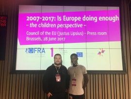 Belgium – Don Bosco Care Young Representative at 10th year Anniversary of Fundamental Rights Agency