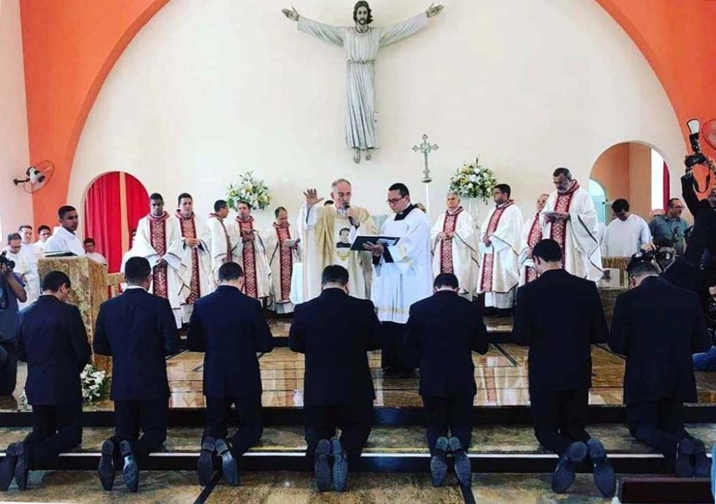 Brazil - Perpetual profession of 7 Salesians