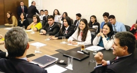 "Paraguay - A student of the ""Salesianito"" Institute participating in a meeting on  the educational emergency"