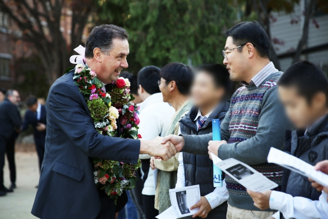 "South Korea – Interview with media and visit to ""South Korea's Valdocco"" on Day 1 of Rector Major's visit"