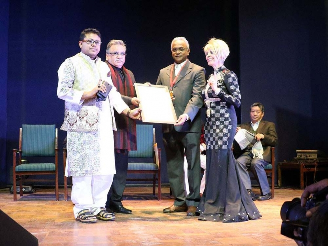 India – Dame Dr.Munni Irone, the founder of Art4Peace awards Don Bosco Institutions for Education and Development