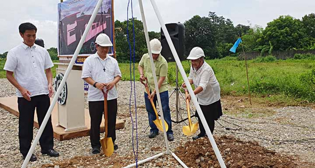 "Philippines - Laying the first stone of ""Don Bosco Pangasinan"""