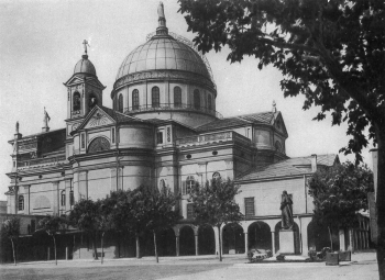 Turin, Italy - 1931 - Shrine of Mary Help of Christians before the expansion