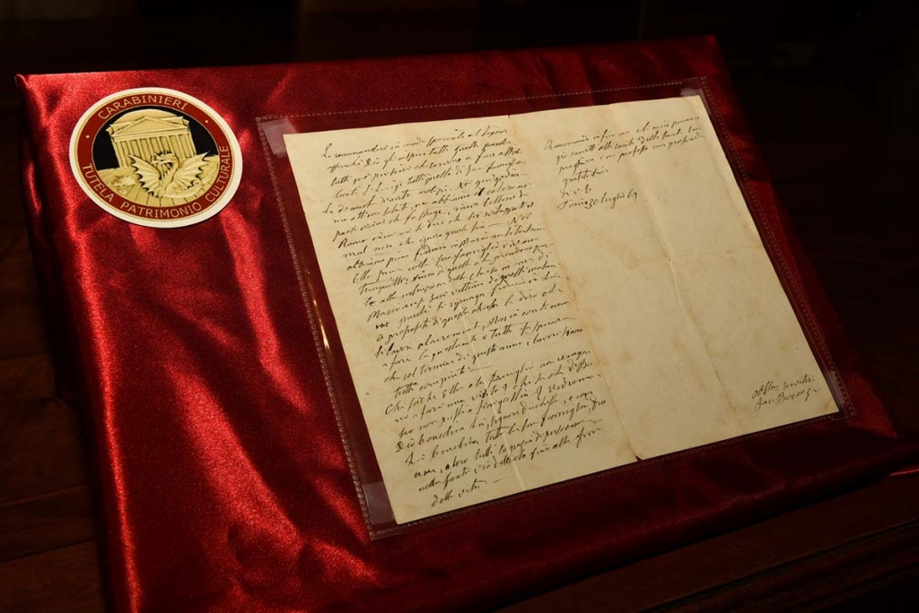 Italy - FBI and Carabinieri find a letter from Don Bosco in 1867