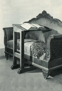 Italy - The sofa and the lectern used by Don Bosco