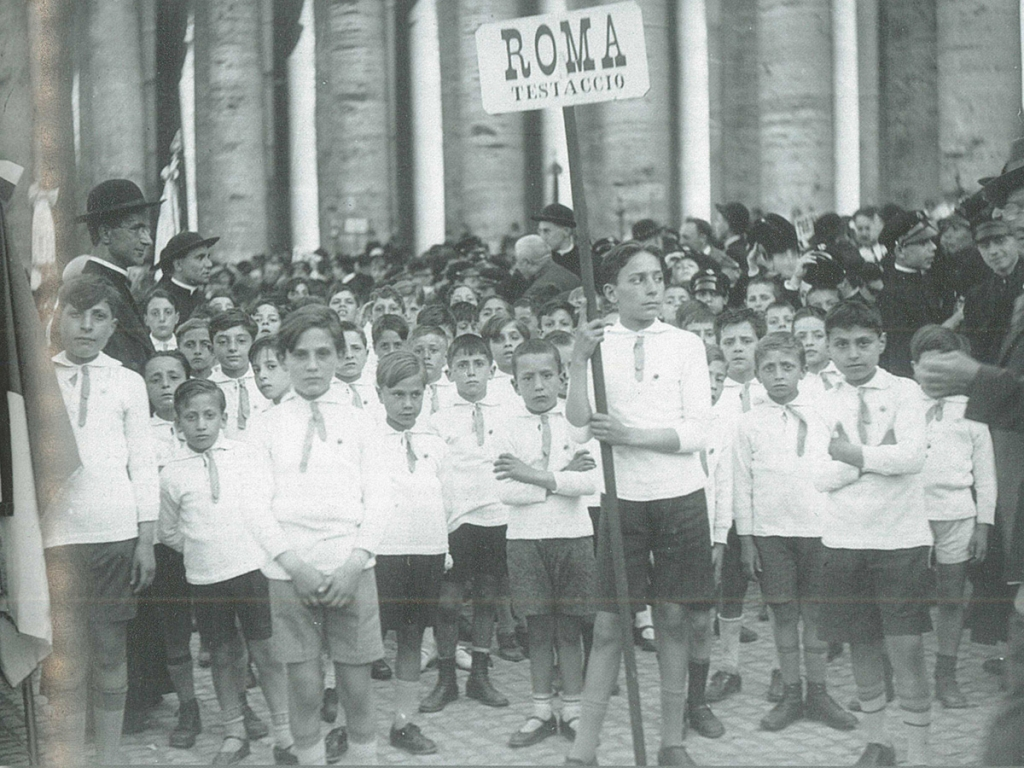 Italy - Boys from the Salesian oratory of Testaccio in St Peter's Square